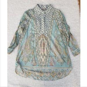 SOFT SURROUNDINGS Tabitha Tunic Shirt Dress Small